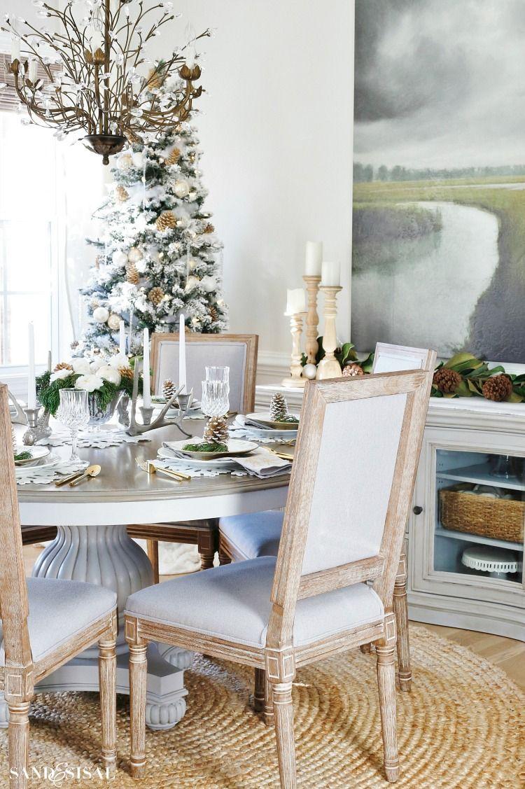 Rustic Glam Christmas Dining Room Christmas Pinterest Christmas