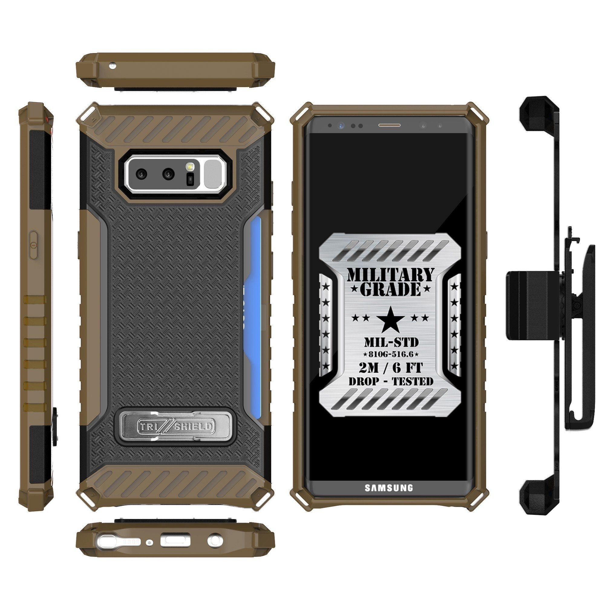 sale retailer 9f089 63a86 Galaxy Note 8 Case Trishield Durable Rugged Heavy Duty Phone Cover ...