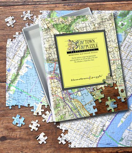 A custom made puzzle centered on any US address Made using high