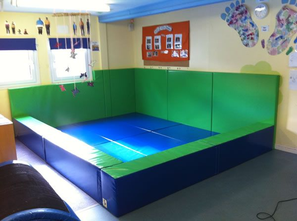 We Use Soft Padded Safety Mats Wall Padding And Sloping