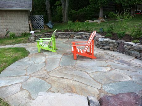Images about natural stone patios and walls on