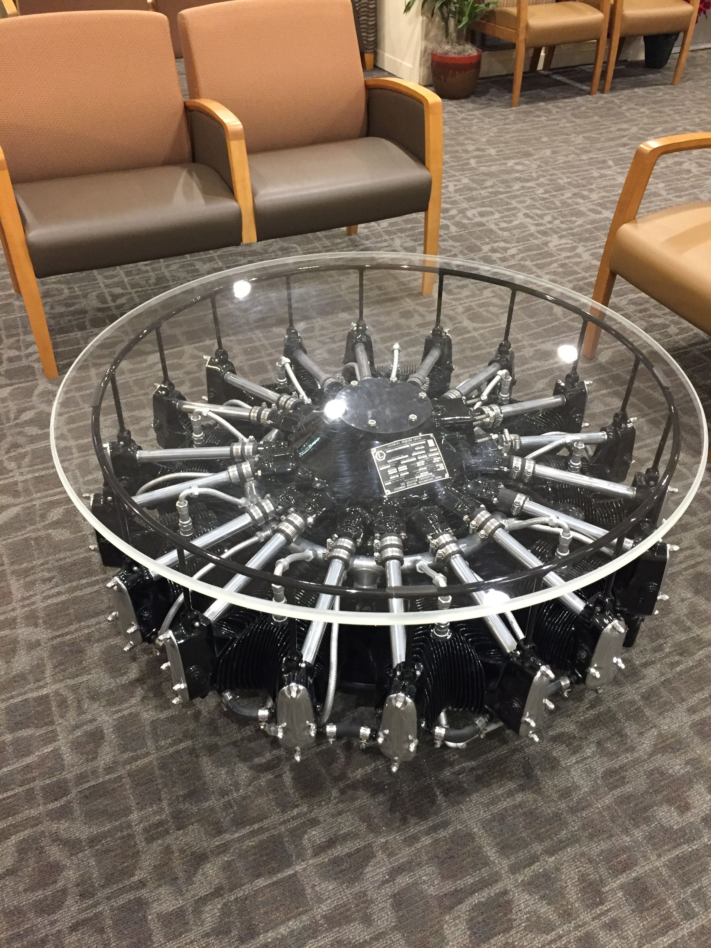 Radial Engine Coffee Table Mebel Velosiped