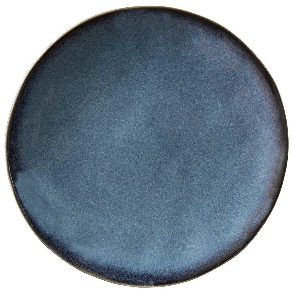 assiette plate en fa ence bleue maisons du monde petites d co pinterest assiettes. Black Bedroom Furniture Sets. Home Design Ideas