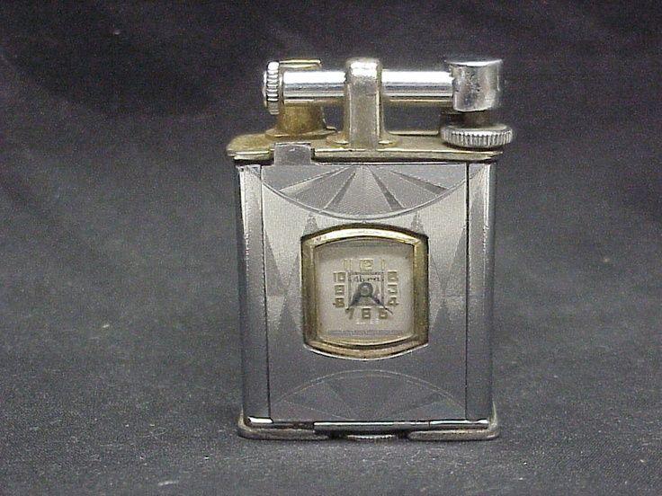 Art Deco Monroe Watch Case Lighter Abra Swiss Watch Movement