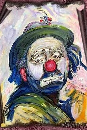 Dessins De Visages Expressifs Le Clown Triste Just Clowning