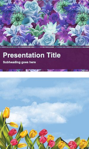 Flower Garden Templates For Powerpoint Ppt By Fppt Templates