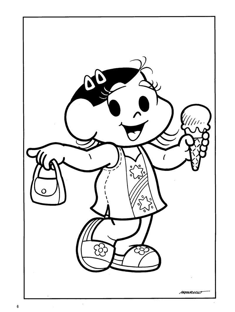 Coisinhas De Criancas Desenhos Para Colorir E Imprimir Monica