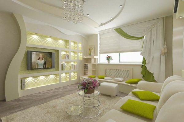 Gardinenideen Vorhänge Fenster Modern Designer Futuristisch ... Wohnzimmer Ideen Gardinen