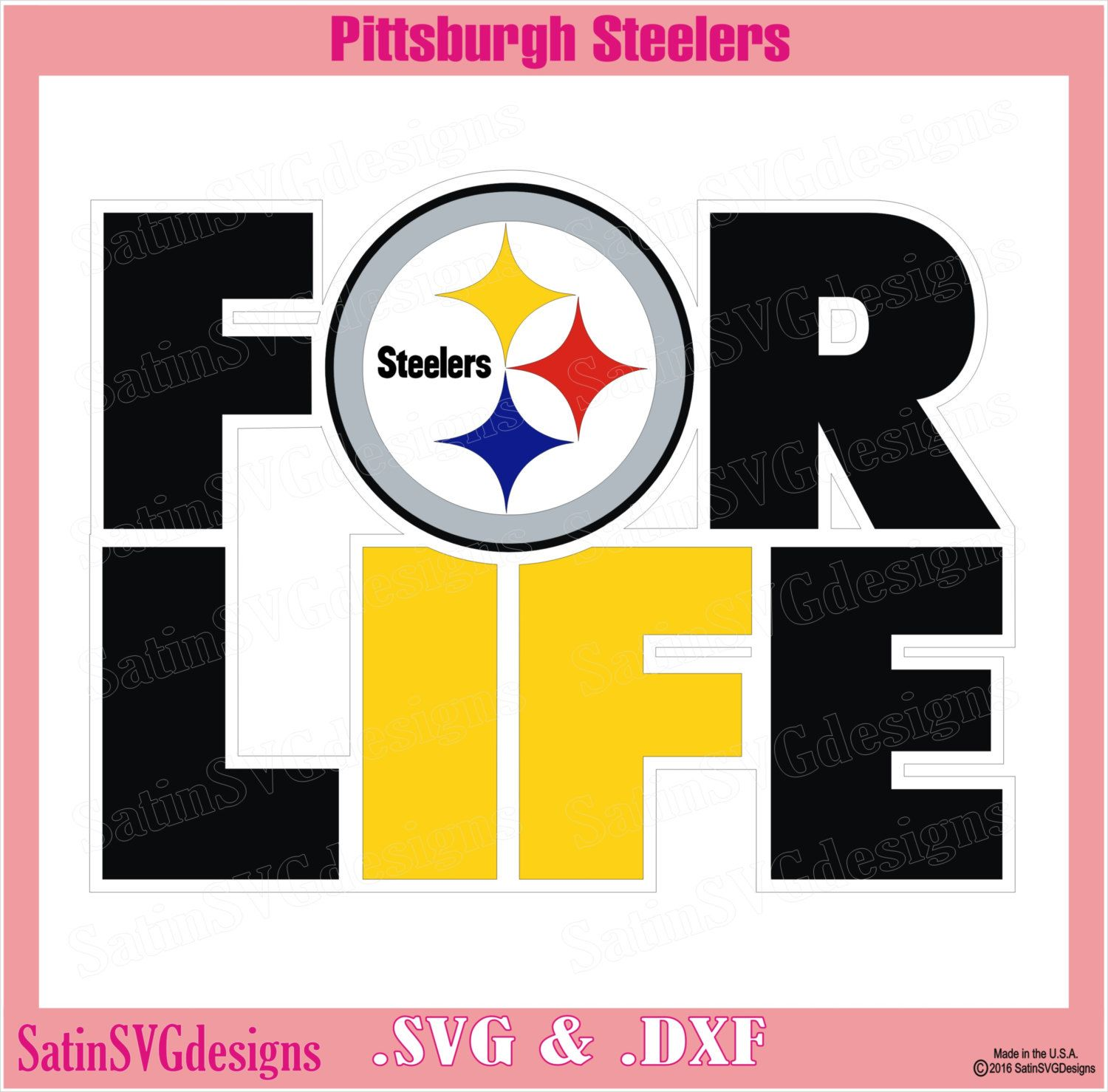 Pittsburgh Steelers 4Life Design With Your Silhouette Studio ...