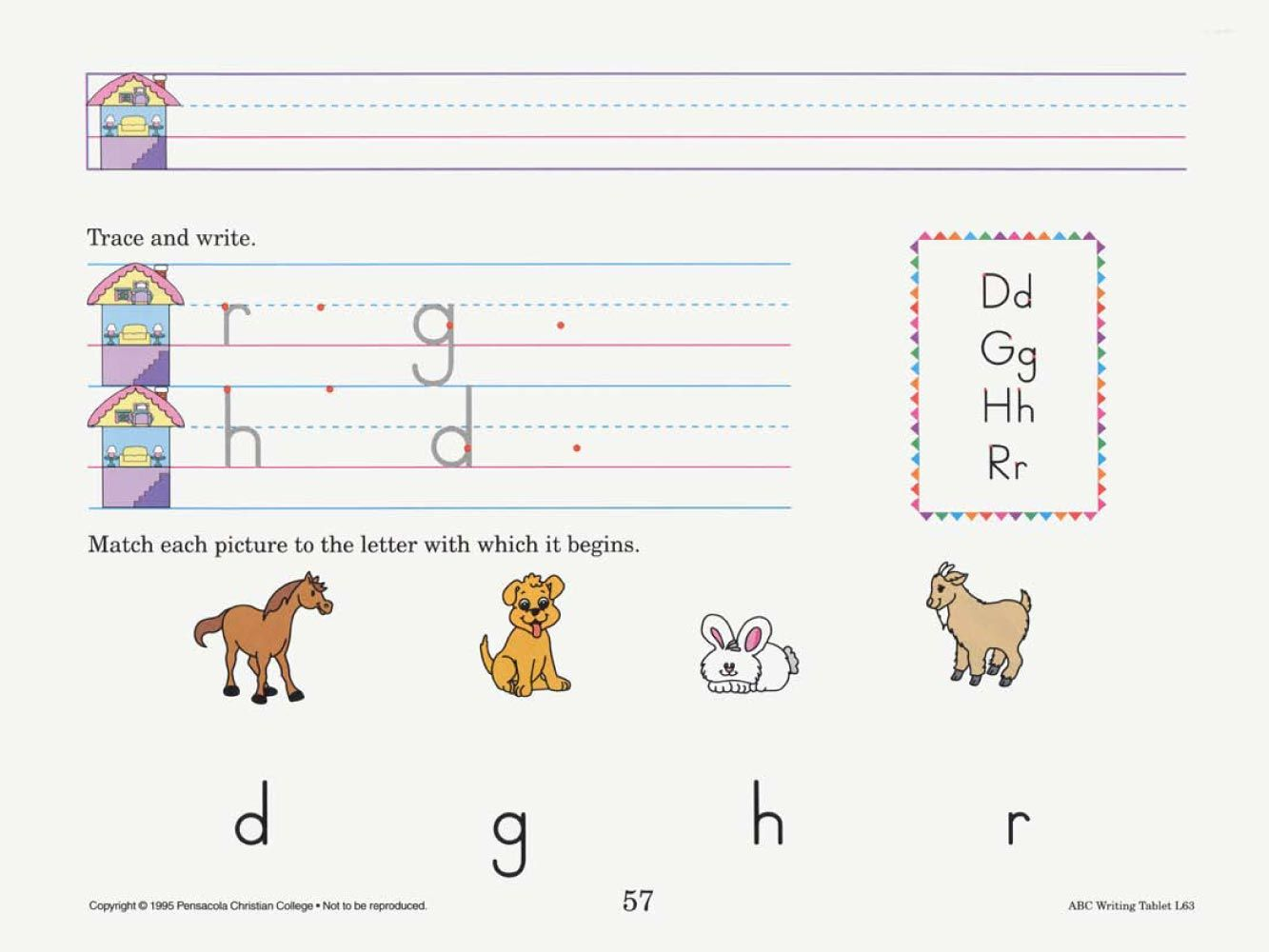 medium resolution of Abeka   Product Information   ABC Writing Tablet Manuscript   Kindergarten  writing