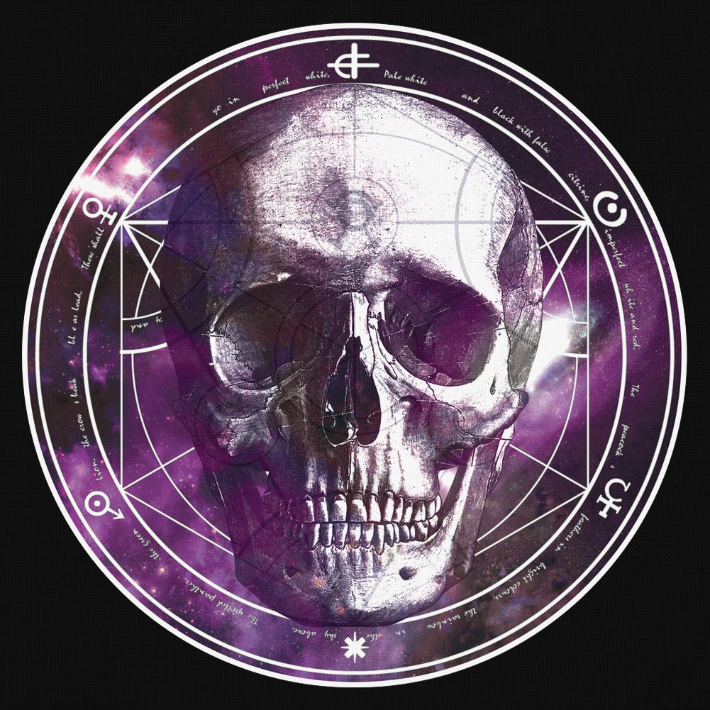 Blue Banana Occult Circle Skull