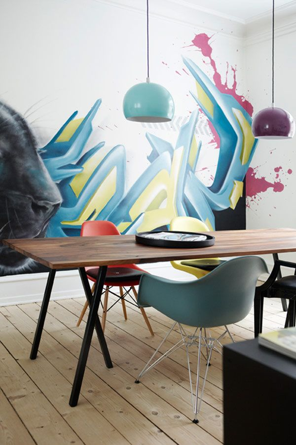 Apartment Interior Filled With Graffiti