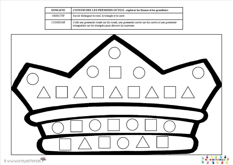 couronne et formes g u00e9om u00e9triques