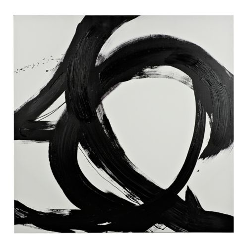 abstract canvas art prints positive black and white abstract canvas art print kirklands in 2018 for the home