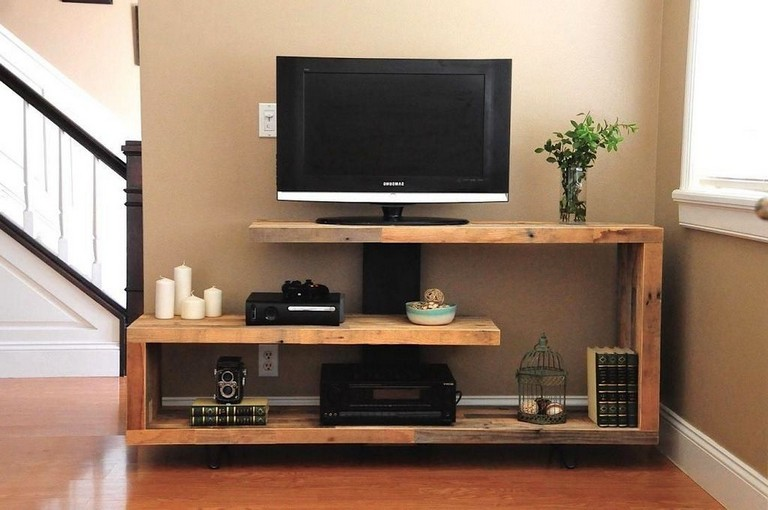 35 Creative Wooden Tv Stands Design Ideas With Images Living