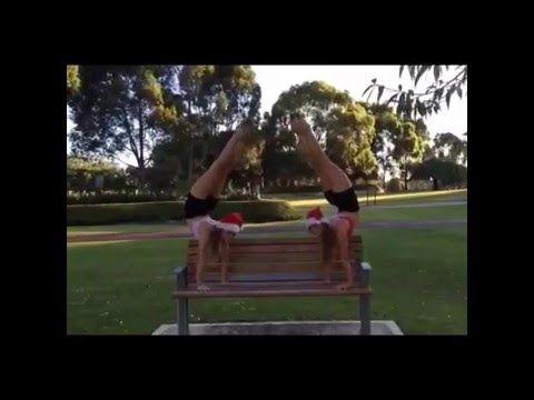 acro christmas video the rybka twins  youtube  twins