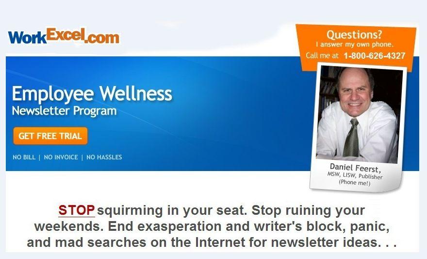 Employee Newsletter For Workplace Wellness Editable An Employee