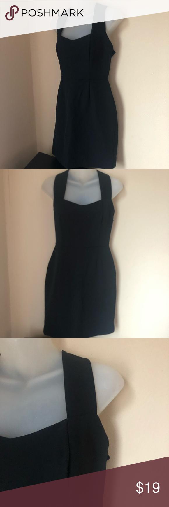 Zara Basic Little Black Dress Zipper Cross Back Clothes Design Little Black Dress Dresses [ 1740 x 580 Pixel ]