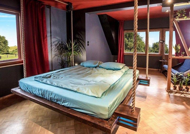 Hängebett mit LED-Beleuchtung - platzsparendes Design fürs kleine - schlafzimmer beleuchtung led