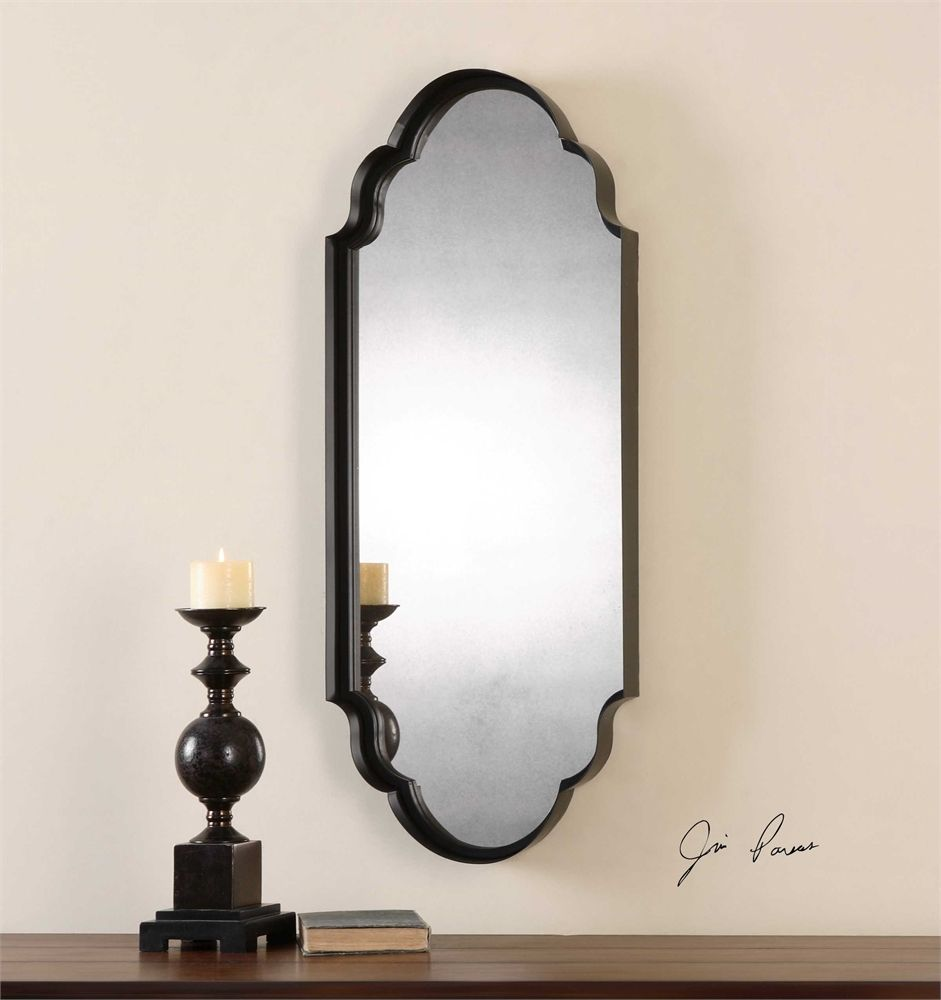 Uttermost lamia curved metal mirror so pinterest metal lamia thick curved metal frame finished in rust black accented with an antiqued mirror designer jim parsons dimensions d w h weight amipublicfo Image collections