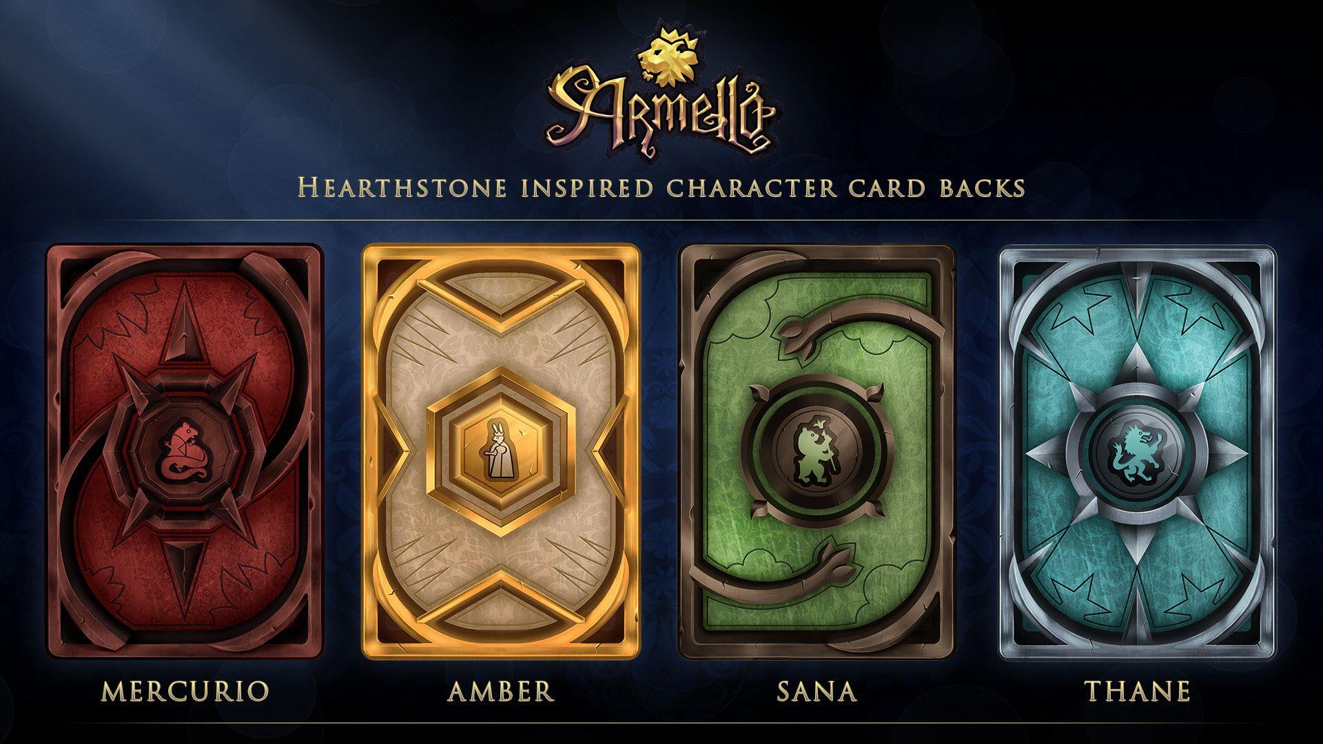 Armello X Hearthstone Card Backs Gavin Bird Game Card Design Card Art Math Card Games