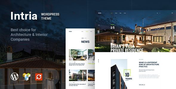 Intria is evaluated an unique & trendy WordPress Theme for