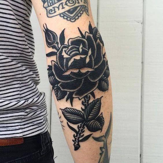 fc7a75cc3 Black Rose Tattoos On Arm Sleeve | tattoos | Black rose tattoos ...