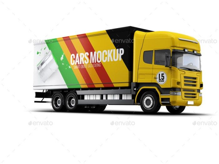 35 Truck Mockup Psd For Trucks Branding Free Premium Download