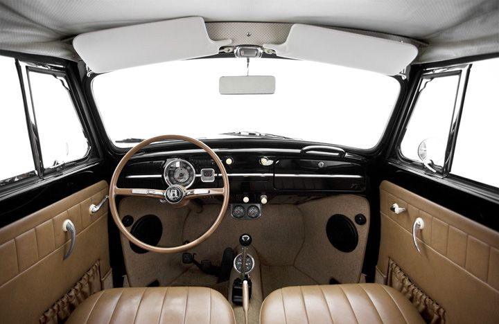 Vw Bug Interior Very Clean N Would Need To B Kept That Way Only Vws Pinterest Vw Bug Interior Vw Beetles Beetle Convertible