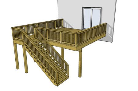Less Work More Life Deck Plans Diy Building A Deck Free Deck Plans