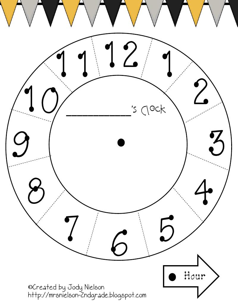 Paper Plate Clock Template.pdf | math | Pinterest | Clocks, Pdf and ...