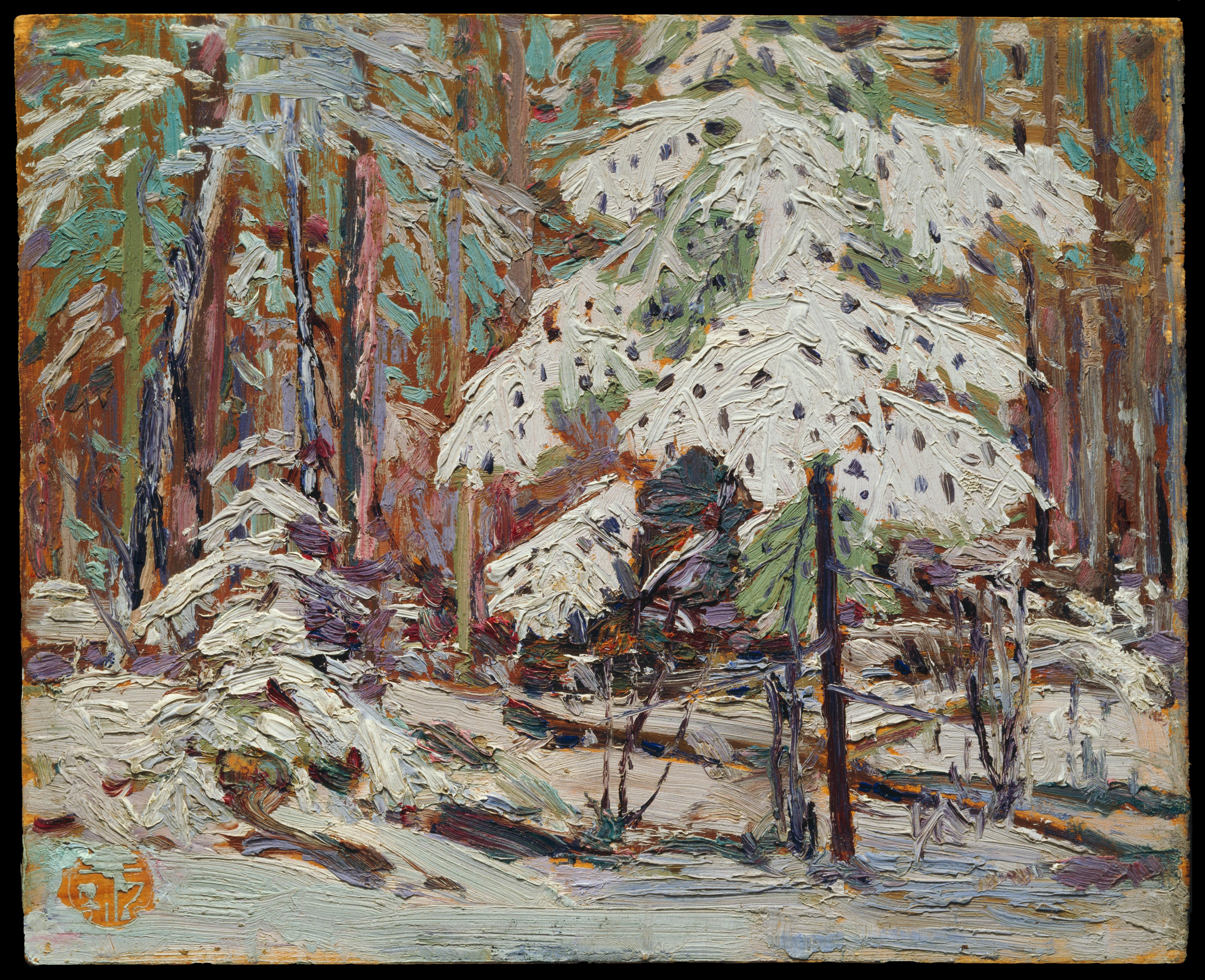 Tom Thomson Catalogue Raisonné | Snow in the Woods, Fall 1916 (1916.174) | Catalogue entry