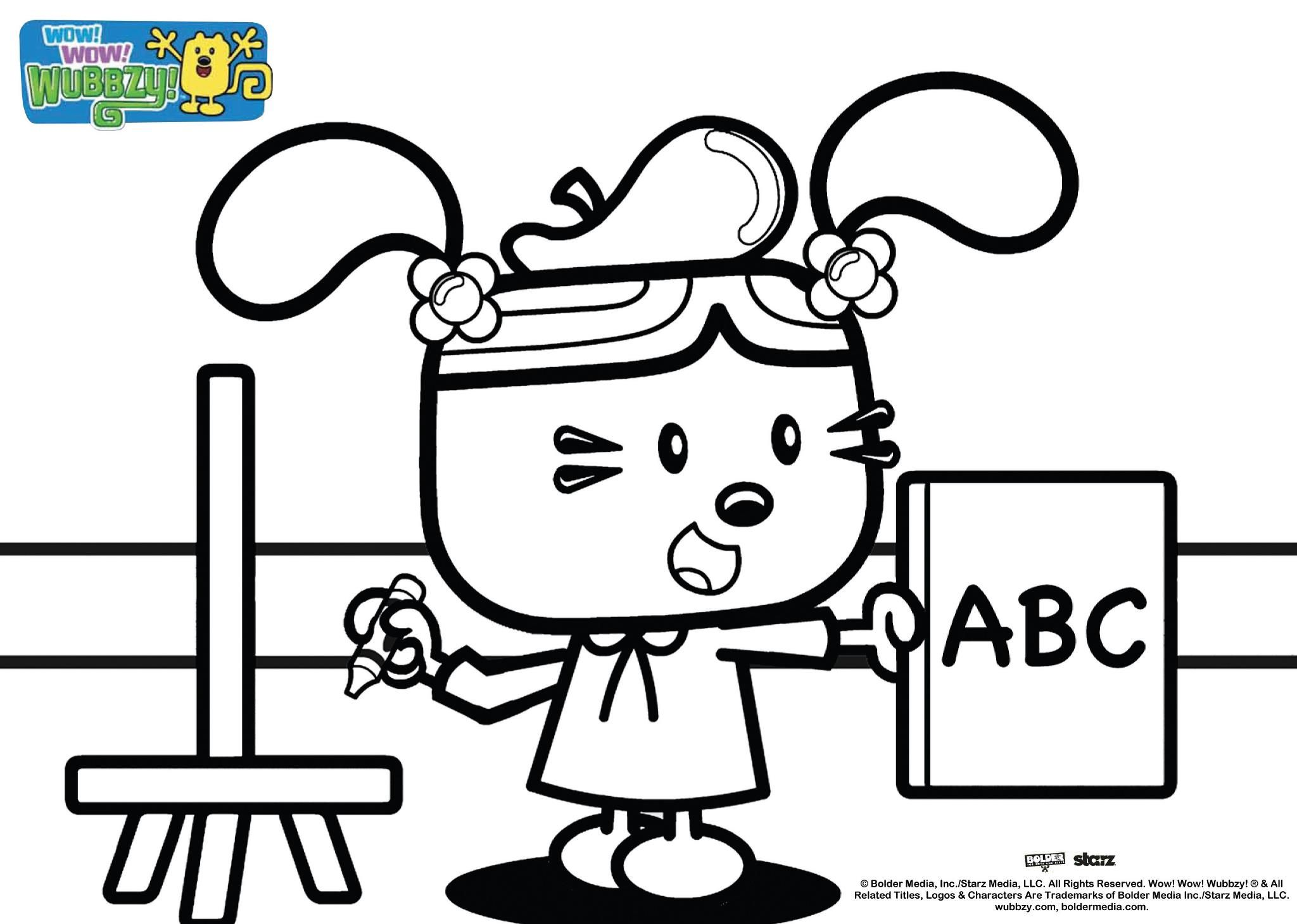 nick jr wow wubbzy coloring pages