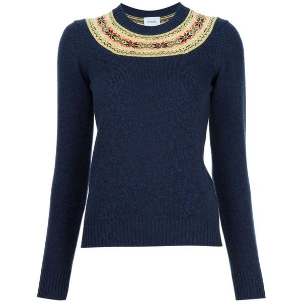 Barrie fair isle detail jumper ($1,310) ❤ liked on Polyvore ...
