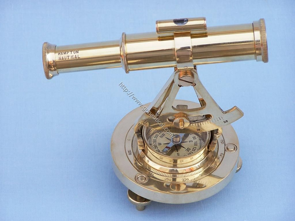 Nautical gifts for the home - This Solid Brass Nautical Gem Features A Real Working 8 Powered Telescope