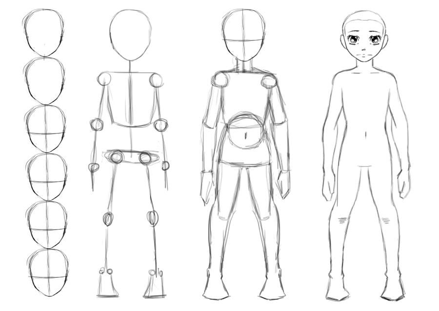 How To Draw A Body By Thealtimate On Deviantart Drawing Anime Bodies Body Drawing Body Sketches
