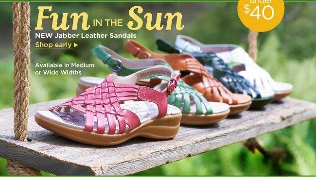 BareTraps  --  Fun in the Sun  --  NEW Jabber Leather Sandals  --  Available in Medium or Wide Widths