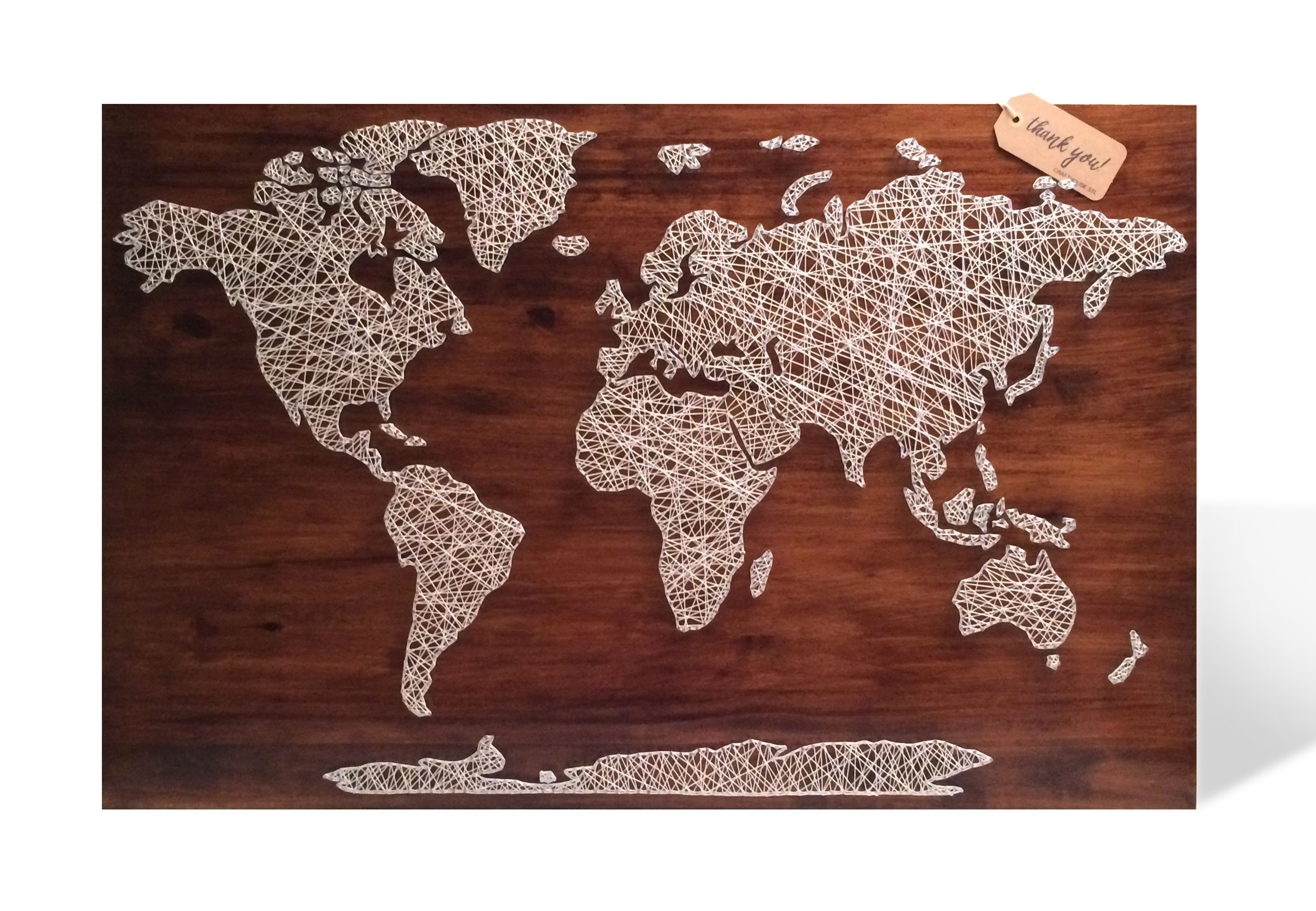 Crafthouse string art world map home decor pinterest crafthouse string art world map gumiabroncs Image collections