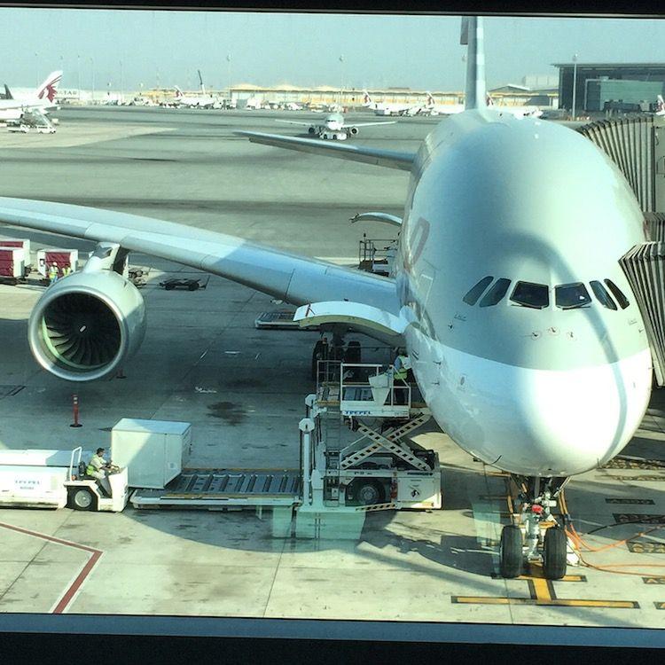 Qatar airways a380 doha airport httpwww