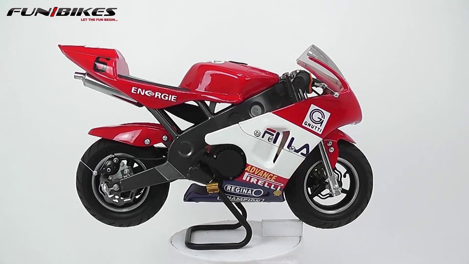 FunBikes MT4A 50cc 46cm Mini Moto Fila Racing Bike Awesome Ideas