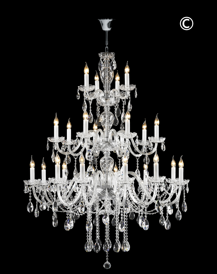 Bohemian Brilliance 24 Arm Crystal Chandelier Chrome With Images