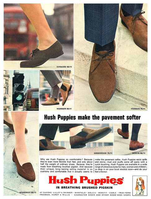 Hush Puppies Ad 1965 Hush Puppies Retro Shoes Cool Style
