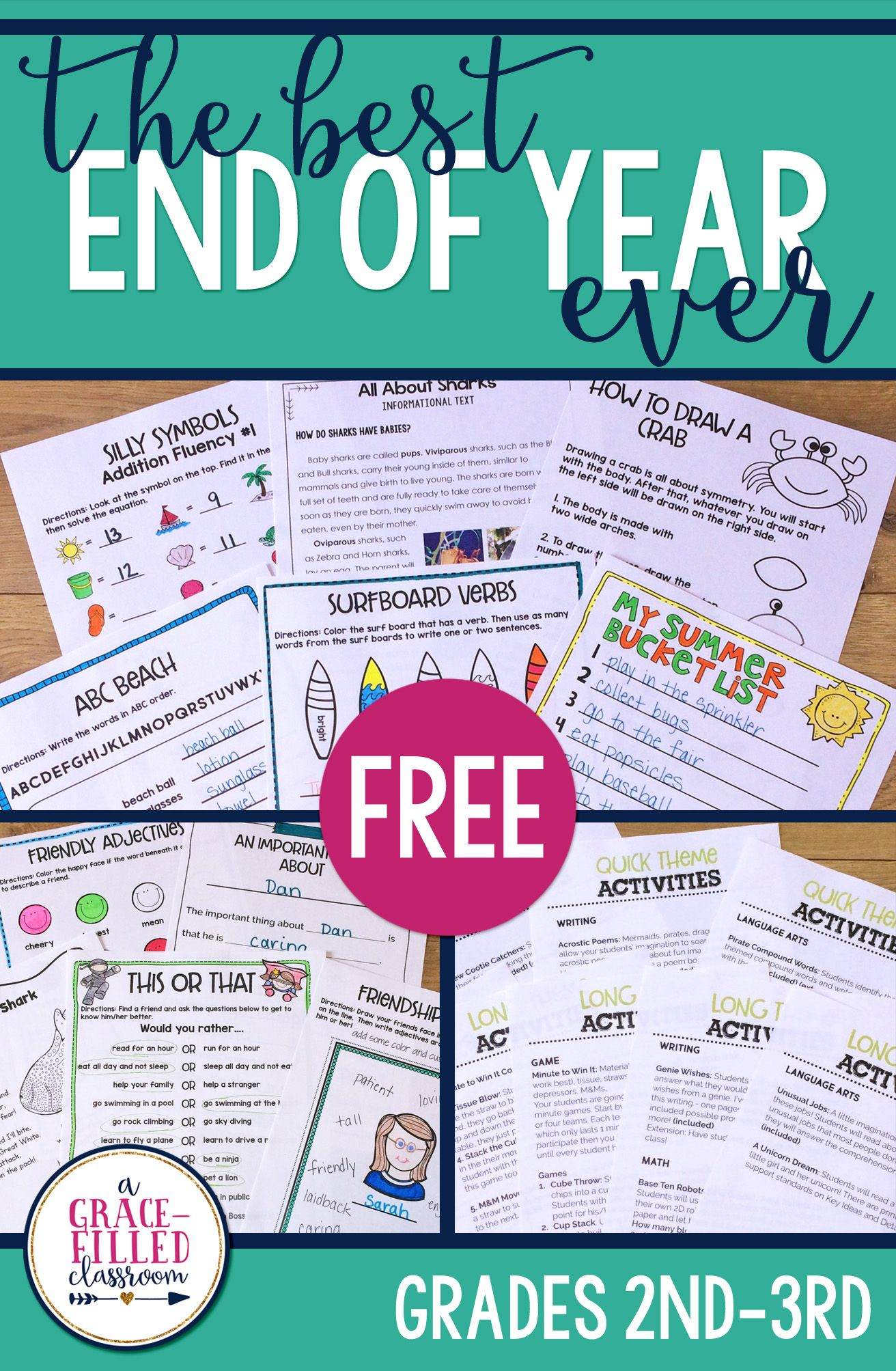 Free End Of Year Ideas Activities And Resources To Have