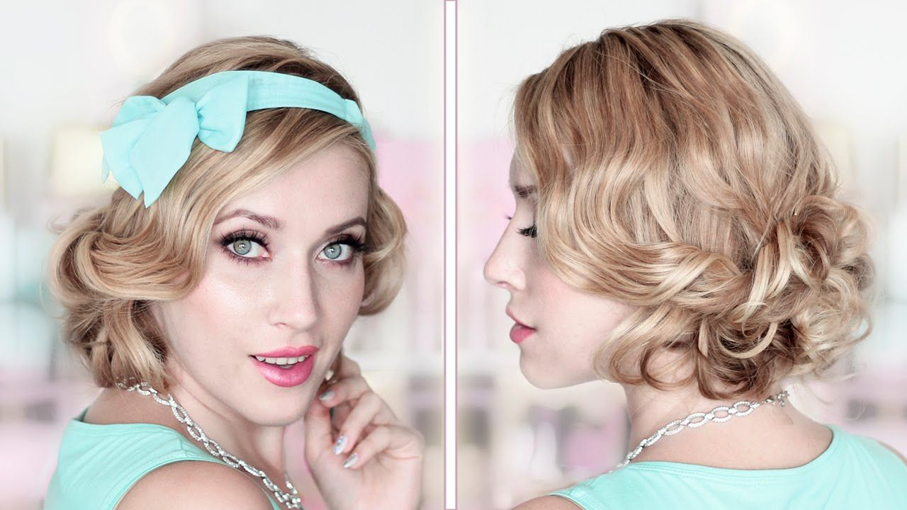 How To Fake Short Hair CURLY BOB Holiday Updo Hairstyle Tutorial