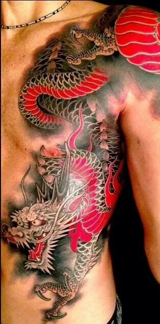 Body side Dragon Tattoo!  BAD AS.S