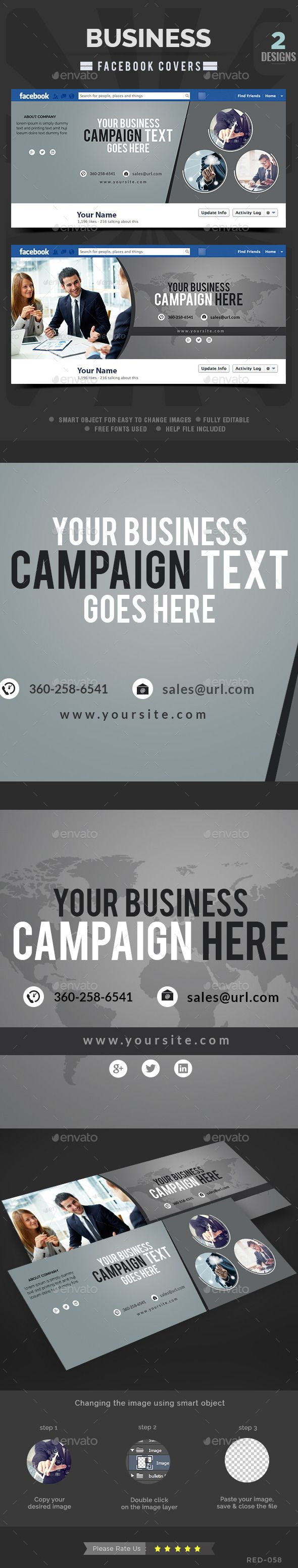 Business Facebook Facebook Covers - 2 Designs | Timeline covers ...