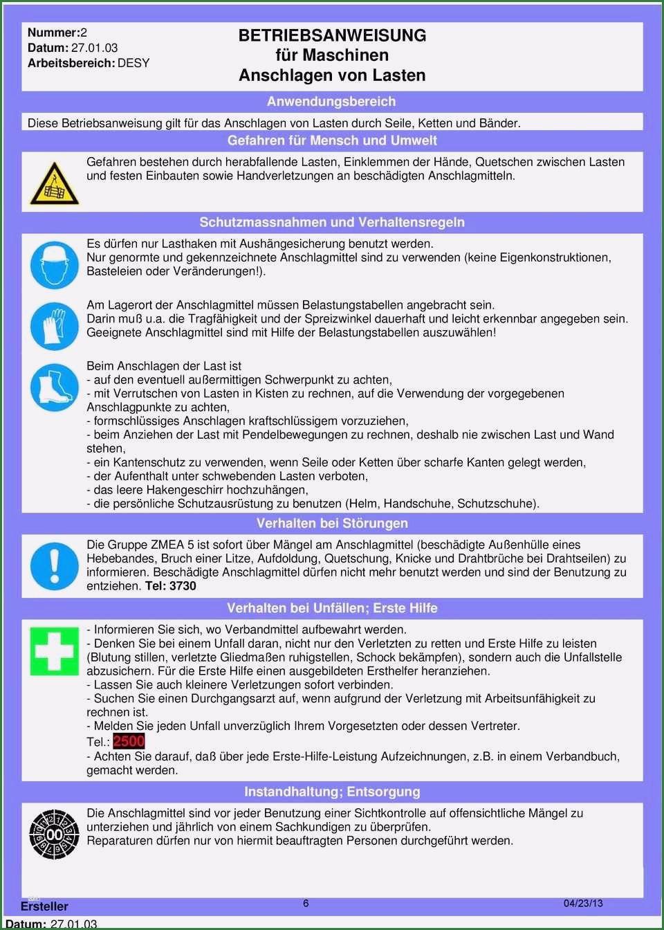 12 Grossartig Betriebsanweisung Vorlage In 2020 Betriebsanweisung Vorlagen Verhaltensregeln
