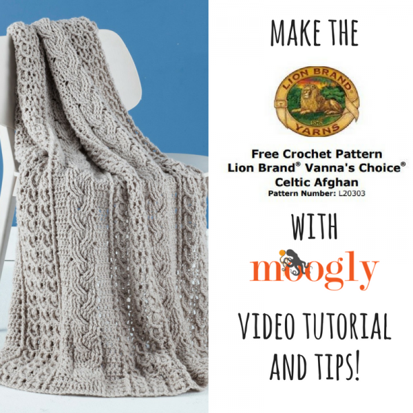How to Crochet the Lion Brand Celtic Afghan | Manta, Colchas y Ganchillo
