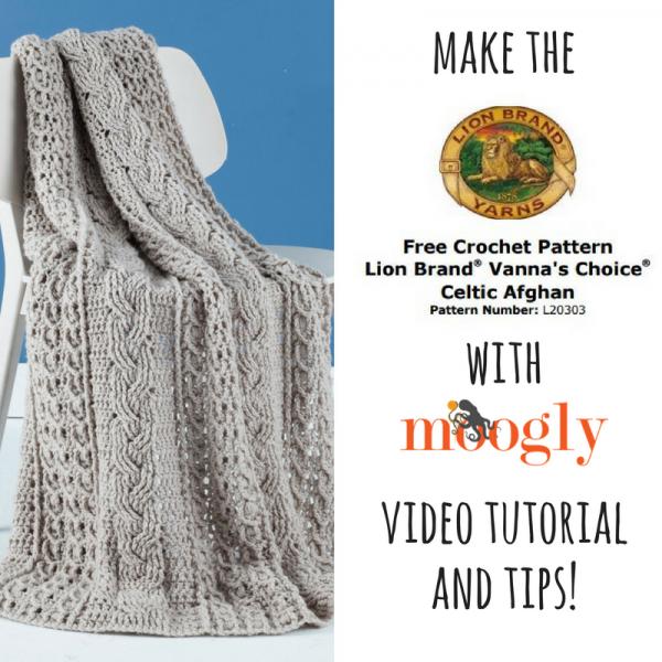 How to Crochet the Lion Brand Celtic Afghan | crochet | Pinterest ...