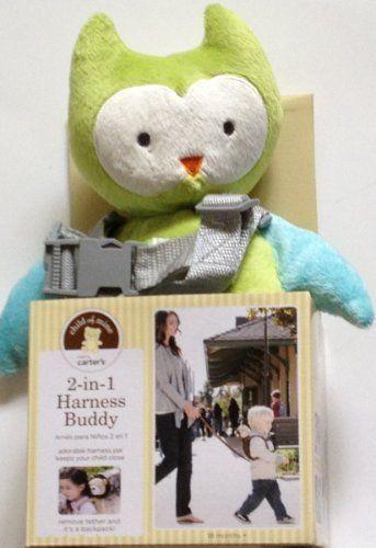 afcfebdbf Carter's Child of Mine 2-in-1 Harness Buddy- Green Owl. Friendly ...